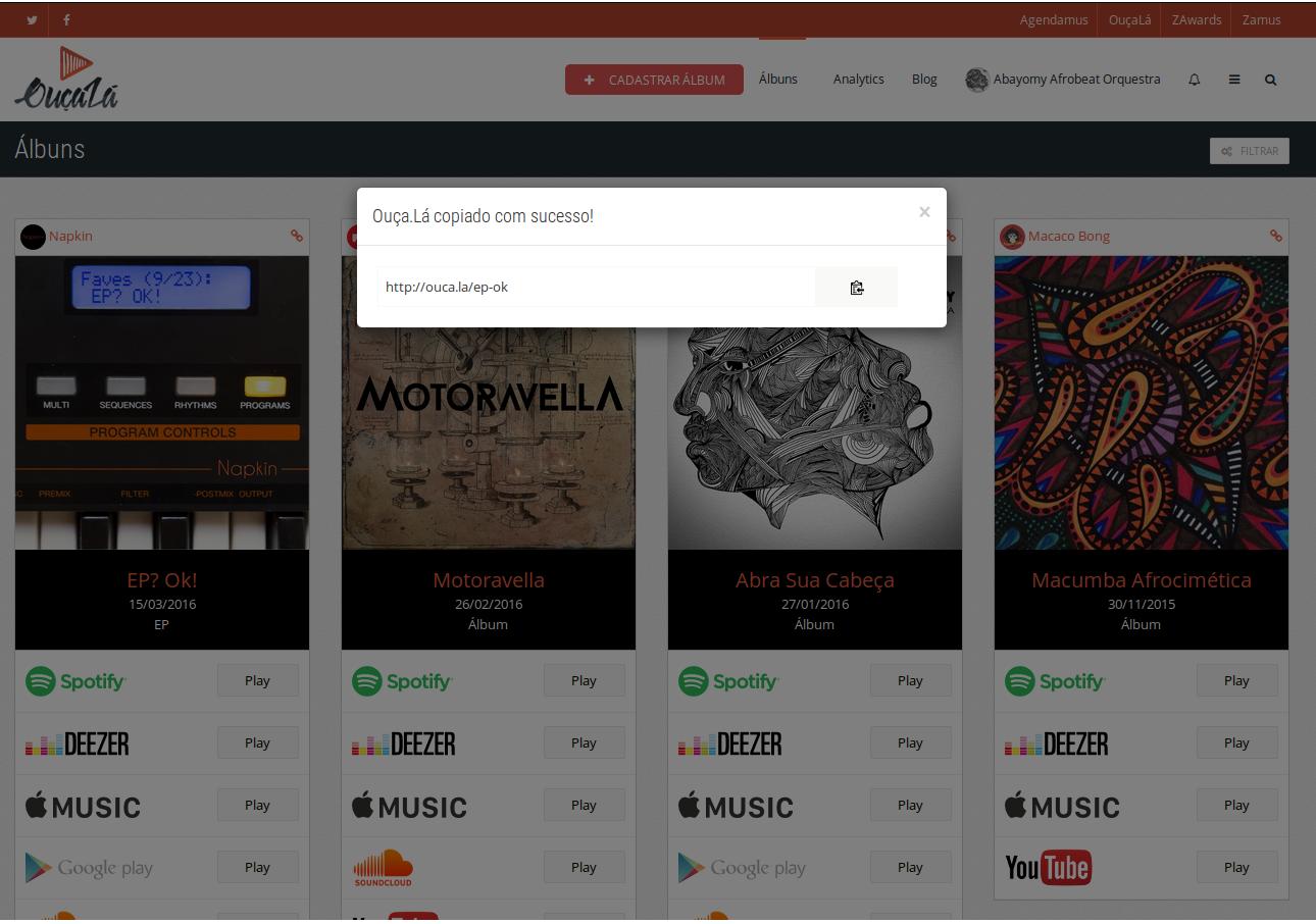 Smart Links para divulgação de Música - Links Curtos